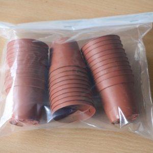 container 5cm in diameter, plastic, qty: 30