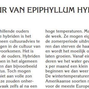 De cultuur van Epiphyllum hybriden-paper